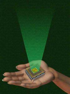 Alien Beweis Mikrochip